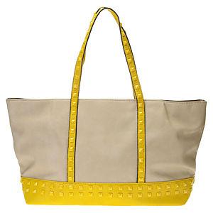 Sugar Bag Sarı Zımbalı Bej Rengi Omuz Çantası