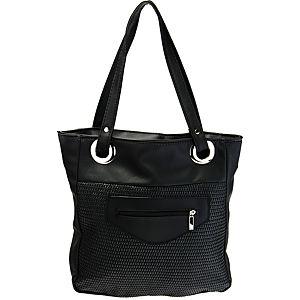 Sugar Bag Siyah Fermuarlı Örgü Çanta