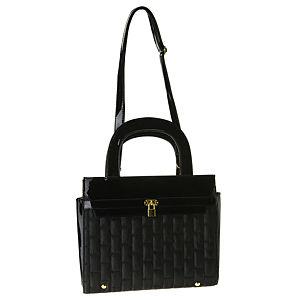 Sugar Bag Siyah Kilit Detaylı Çanta
