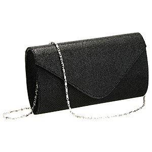 Sugar Bag Siyah Simli Zarf Çanta