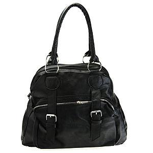 Sugar Bag Siyah Tokalı Fermuarlı Çanta