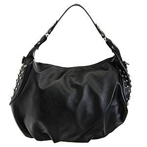 Sugar Bag Siyah Zımbalı Wamp Çanta