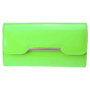 Sugar Bag Yeşil Neon Clutch