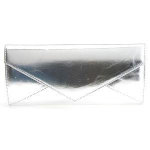 Sugar Bag Zincir Omuz Askılı Gümüş Gri Mektup Çanta