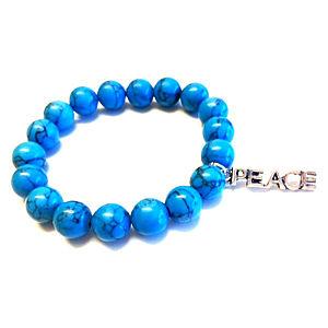 Takanka Guardians Beads Peace Turkuaz Taşlı Bileklik