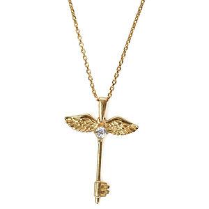 Vartan Collection Altın Kaplama Taşlı Melek Anahtar