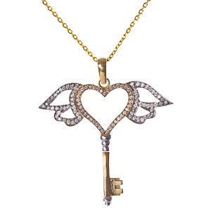 Vartan Collection Kalbimin Anahtarı Meleğimde Taşlı Kolye