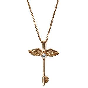 Vartan Collection Roze Kaplama Taşlı Melek Anahtar
