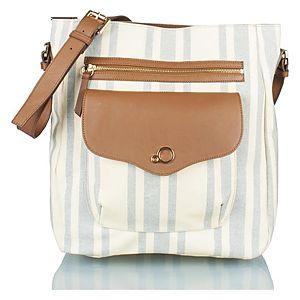 Zoopa deri/kanvas çapraz omuz çantası