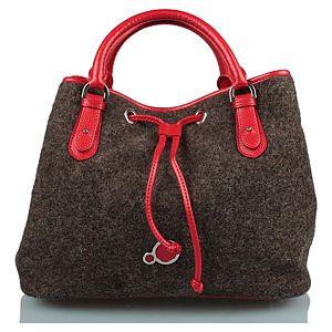 Zoopa keçe drawstring çanta