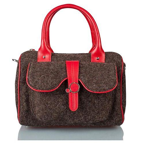 Zoopa keçe omuz çantası