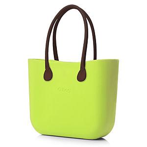 O Bag Fıstık Yeşili Kahverengi Uzun Eco Deri Saplı Set