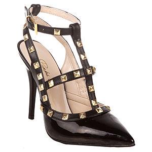 Pumps Up Valeria Rugan Siyah Topuklu Ayakkabı