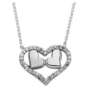 Selmas Gümüş Swarovski Taşlı Kalp kolye