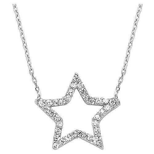 Selmas Gümüş Swarovski Taşlı Yıldız Kolye