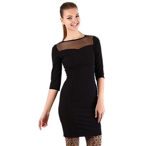 Shiera Geometrik Parçalı Tül Garnili Elbise