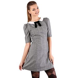 Shiera Gömlek Yakalı Ekose Elbise