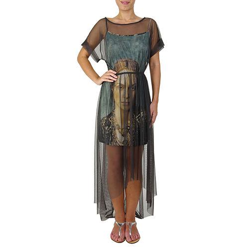 Sorcha Antrasit Rengi Şifon Elbise