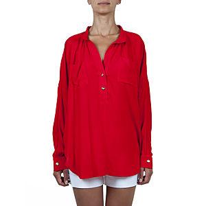 Sorcha Arkası Şifon Kırmızı Gömlek