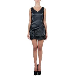 Sorcha Beli Dantelli Mini Siyah Elbise