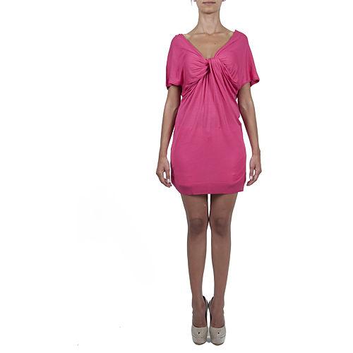 Sorcha Büzgü Detaylı Fuşya Triko Elbise