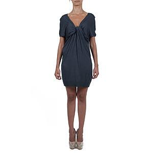 Sorcha Büzgü Detaylı Lacivert Triko Elbise