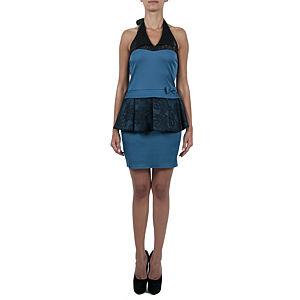 Sorcha Çıkar Tak Dantelli Mavi Elbise