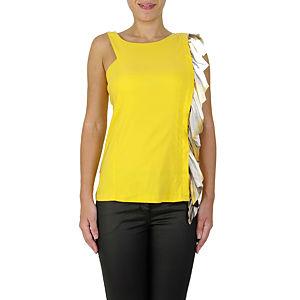 Sorcha Desenli Sarı Bluz