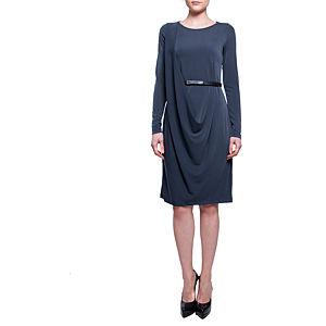 Sorcha Kendinden Kemer Detaylı Uzun Kollu Elbise