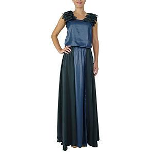 Sorcha Lacivert Uzun Elbise