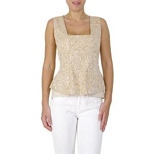 Sorcha Sarı Desenli Bluz