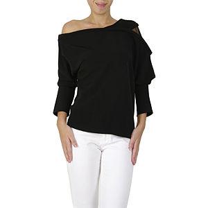 Sorcha Siyah Düşük Omuzlu Bluz
