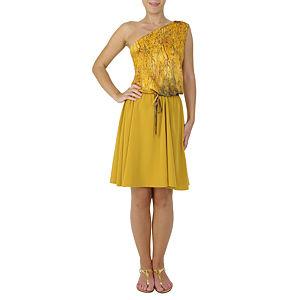 Sorcha Tek Kollu Sarı Elbise