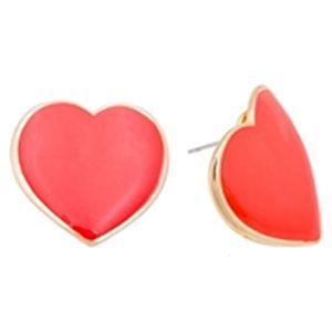 Modapik Kırmızı Kalpli Küpe