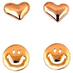 Modapik Smiley İkili Set Küpe