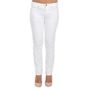 Orient Flower Beyaz Dar Kesim Pantolon