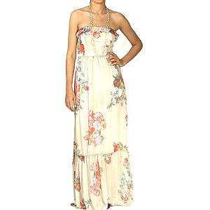 Orient Flower Fır Fırlı Maxi Şifon Elbise