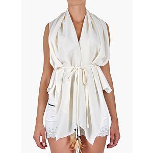 Orient Flower Kırık Beyaz  Bluz