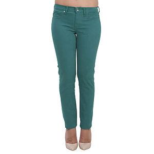 Orient Flower Mat Yeşil Dar Kesim Pantolon