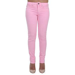 Orient Flower Pink Fluor Dar Kesim Pantolon