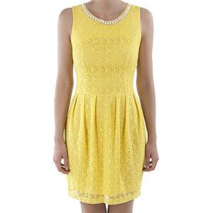 Orient Flower Sarı Dantel Boncuk İşlemeli Elbise