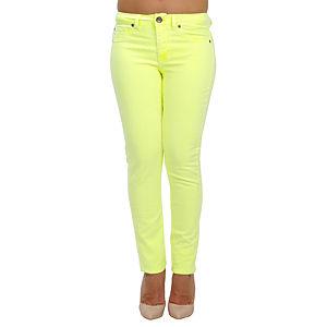 Orient Flower Sarı Dar Kesim Pantalon