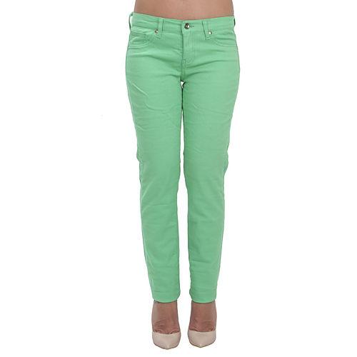 Orient Flower Yeşil Dar Kesim Pantalon