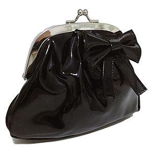 Pembe Askı Black Bow Çanta