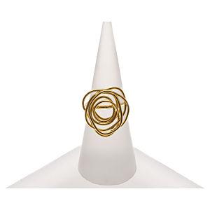 PİK Altın Kaplama Gümüş Karışık Tel Yüzük