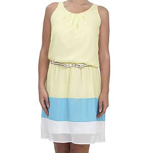 Prime Days Blok Garnili Şifon Elbise