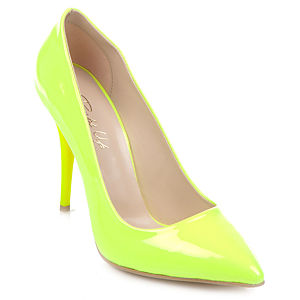 Pumps Up Neon Sarı Stiletto