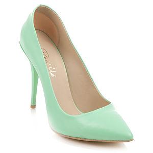 Pumps Up Su Yeşili Stiletto Ayakkabı