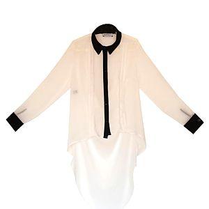 Karahasan's Arkası Uzun Beyaz Gömlek