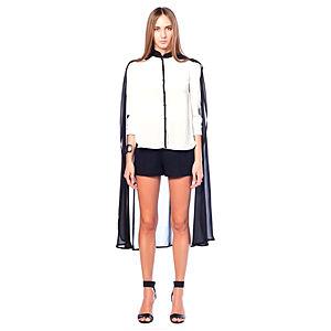 Karahasan's Siyah Beyaz Pelerinli Gömlek